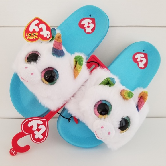 b44a3fcfa TY Shoes | Beanie Boo Pixy Unicorn Slide Sandals | Poshmark